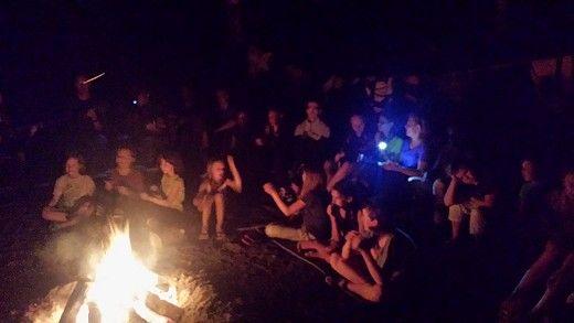 ognisko w Pieczarkach